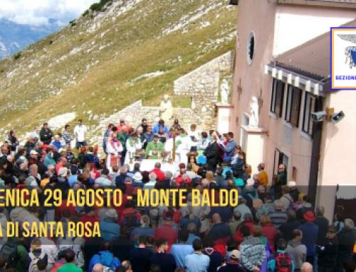 DOMENICA 29 AGOSTO 2021 – MONTE BALDO: FESTA DI SANTA ROSA AL NOSTRO RIFUGIO G. BARANA AL TELEGRAFO